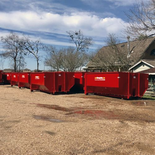 Dumpster rentals available for your next large (or small) demo project.