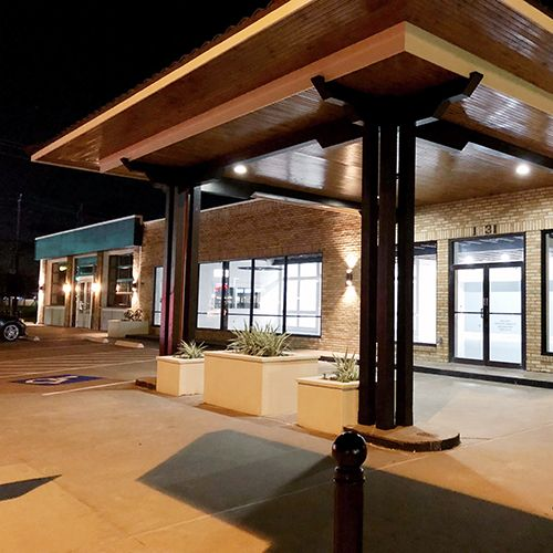 Exterior commercial remodel