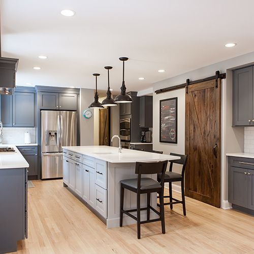 Traditional or modern kitchen renovations.