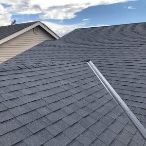 Beautiful new composition roof.